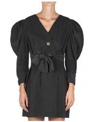Soallure SOA O11026 Cross dress + jewel brooch - Noir