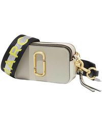 Marc Jacobs The Logo Strap Snapshot Small Camera Bag - Grijs