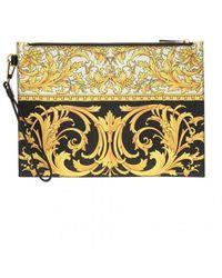 Versace Printed Clutch - Geel