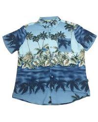 Blend Camicia Mezza Manica - Bleu