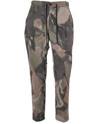 Department 5 Department 5 Pantaloni Bruc Camouflage - Groen