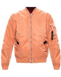 DIESEL Reversible bomber jacket - Arancione