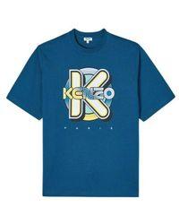 KENZO Camiseta Estampada Wetsuit - Blauw