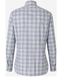 Kiton Checked Poplin Shirt - Gris