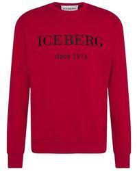 Iceberg Logo sweater 21i i1p 0e050 6300-4494 - Rosso
