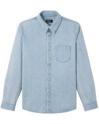 A.P.C. Camicia victor - Bleu
