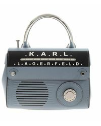 Karl Lagerfeld K/Ikonik Telephone Mini Top Handle Bag - Blu