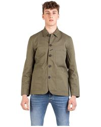 Universal Works Giacca twill Bakers - Grün