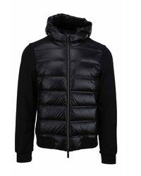 Rrd Giubbotto Winter Fleece Duck Hood Zip - Zwart