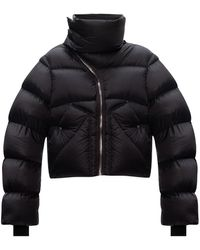 Rick Owens Jacket With Asymmetrical Fastening - Zwart