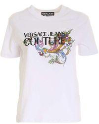 Versace T-shirt Hwa7ka 30327 11 - Wit