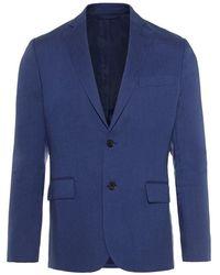 J.Lindeberg Blazer Hopper Soft Tech Lin - Bleu