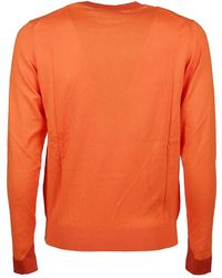 Etro - Multiyarn Sweater Naranja - Lyst