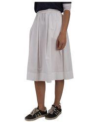 Aspesi White Skirt Blanco