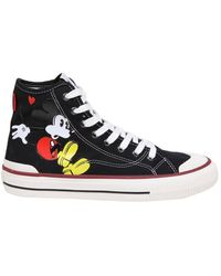 MOA - Sneakers In Fabric With Mickey Mouse Print - Lyst