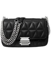 Michael Kors Lamb Leather Handbag - Sloan - Zwart