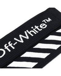 WEILI ZHENG Diagonal Striped Socks Negro