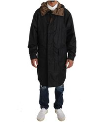 Dolce & Gabbana Hooded reversible rainkåpe - Noir