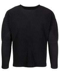 Issey Miyake Homme Plisse Effect T-Shirt - Nero