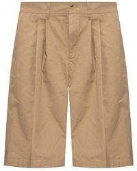 Lanvin Pantaloncini plissettati - Neutro