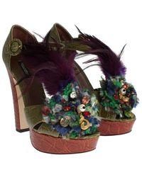 Dolce & Gabbana Zapatos Caiman Verde