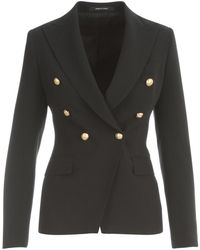 Tagliatore Double Breasted Jacket - Noir