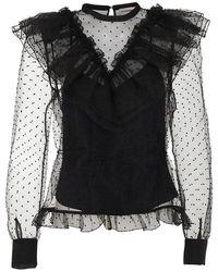 Custommade• Violet Blouse - Zwart