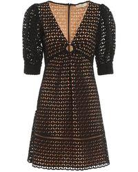 C.P. Company Geo Eyelet Mini Dress - Zwart