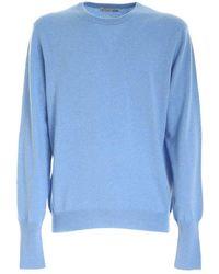 Ballantyne R Neck Pullover - Bleu