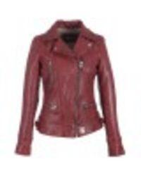 Oakwood Washed Look Genuine Jacket - Rood