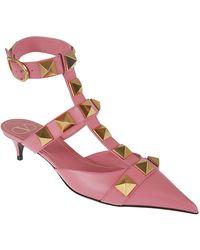 Valentino Valentino garavani ankle strap sandals rosa