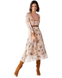 Rinascimento Floral Dress - Naturel