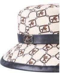 Alberta Ferretti HAT With Logo Print Beige - Neutro