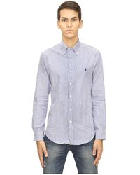Ganni Camicia Slim Fit - Blauw