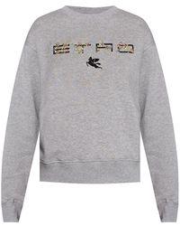 Etro Sweatshirt With Logo - Grijs