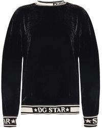Dolce & Gabbana Sweatshirt With Stripes - Zwart