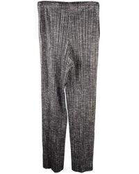 Issey Miyake Pleats Please Pantalon plissé - État d'occasion Très bon - Gris