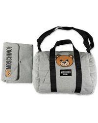 Moschino Teddy bear changing bag - Grigio