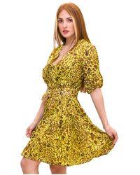 Pinko - Dress Amarillo - Lyst