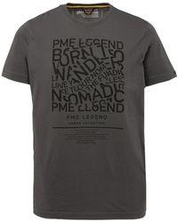 PME LEGEND T-shirt Single Jersey - Grijs