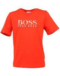 BOSS by Hugo Boss T-shirt Manches - Rood