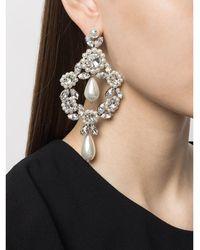 Simone Rocha Large Jewelled Cameo Earring - Zwart