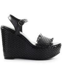 Strategia Braided Wedge Sandal - Zwart