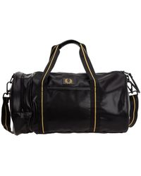Fred Perry Fitness Gym Sports Shoulder Bag Barrel - Zwart