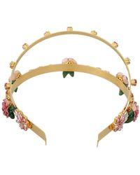 Dolce & Gabbana Crystal Diadem Hoofdband - Geel
