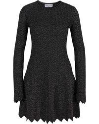 Sonia Rykiel Metallic Knitted Dress - Zwart