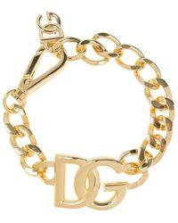 Dolce & Gabbana Bracelet With Logo - Geel
