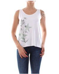 Bomboogie Tw5838 T Jevi T Shirt AND Tank Women White - Bianco