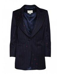 Gucci Retro gg Pattern Blazer - Blauw