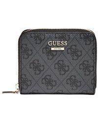 Guess Kleine Brieftasche mit Reißverschluss - Grau